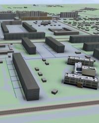 Пространственное размещение объектов городского хозяйства